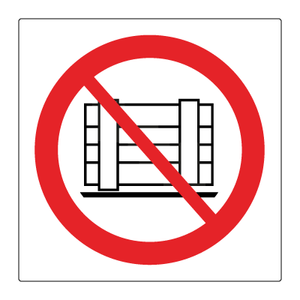 Bilde av Plassering av gods forbudt - Forbudsskilt med symbol