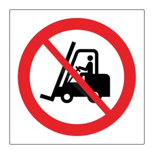 Bilde av Forbudt for industrikjøretøy - Forbudsskilt med symbol