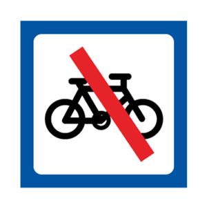 Bilde av Sykkel forbudt - opplysningsskilt med symbol