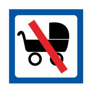 Bilde av Barnevogn forbudt skilt med symbol