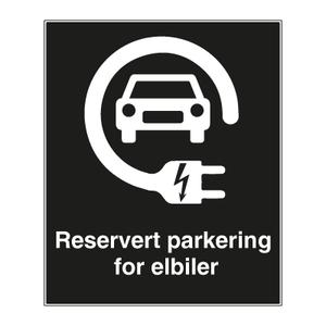 Bilde av Privatrettslig parkeringsskilt - Parkering for elbiler