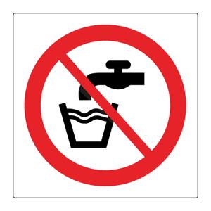 Bilde av Ikke drikkevann - Forbudsskilt med symbol