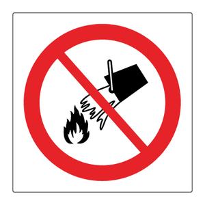 Bilde av Forbudt å slokke med vann - Forbudsskilt med symbol