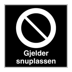 Bilde av Parkering forbudt på snuplassen - Skilt med symbol og tekst