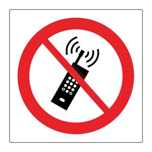 Bilde av Mobiltelefon forbudt - Forbudsskilt med symbol