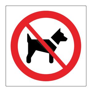 Bilde av Hunder forbudt skilt