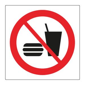 Bilde av Mat og drikkevarer forbudt - Forbudsskilt med symbol