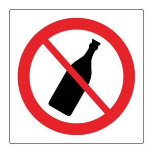 Bilde av Flasker forbudt - Forbudsskilt med symbol