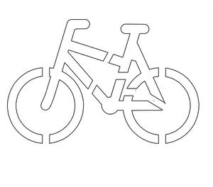 Bilde av Sykkelparkering - Sjablong for oppmerking på asfalt og betong