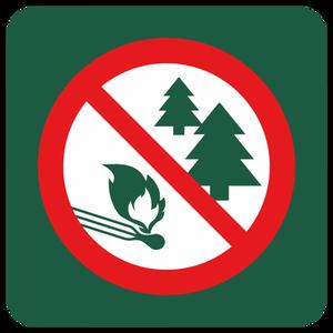 Bilde av Skogbrannfare - skilt med symbol