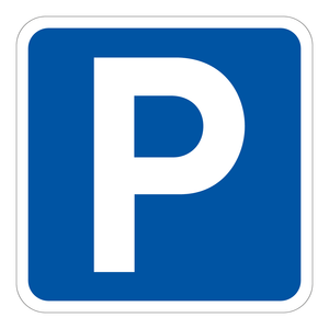 Bilde av Parkeringssskilt - skilt som viser at parkering er tillatt