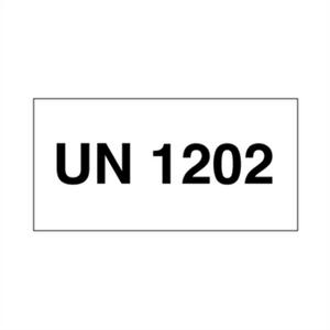 Bilde av UN 1202 Diesel, fyringsolje, gassolje, lys - ADR merking