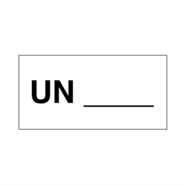 UN nummer - ADR merking av farlig