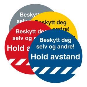 Bilde av Hold avstand Gulvskilt Ø250mm - Beskytt deg selv og andre!