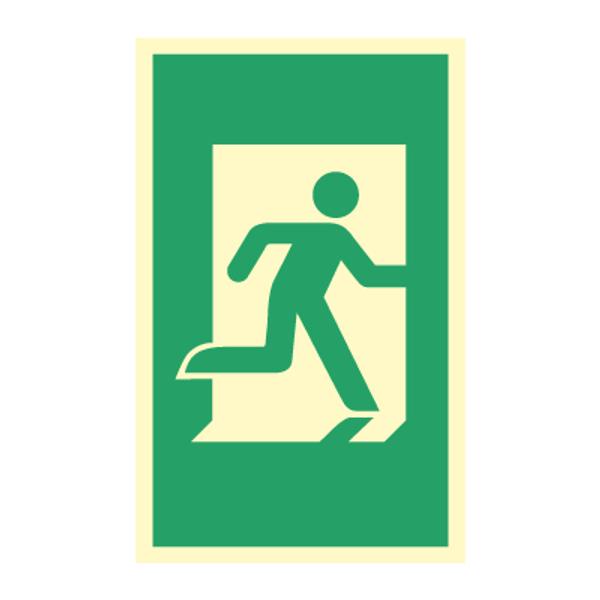 Nødutgangsskilt - Dørhåndtaksmarkering