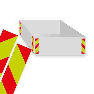 Bilde av Refleksmerking til containere 8 stk 100 x 500 mm