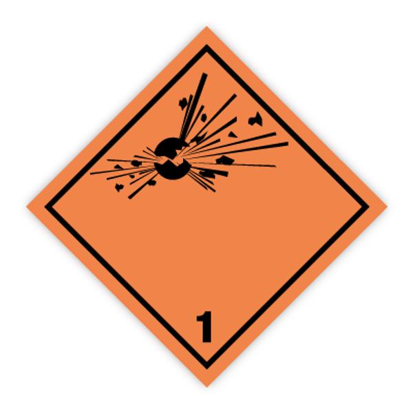 Fareseddel klasse 1 Eksplosive stoffer og gjenstander