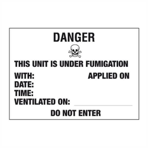 Desinfisert lasteenhet - ADR merking av farlig