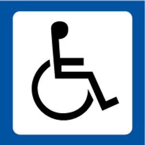 Bilde av Toalettskilt med symbol for Handikaptoalett