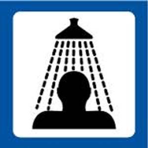 Bilde av Dørskilt med symbol for garderobe dusj