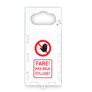 Bilde av Kortholder for godkjenningskort til stillaser