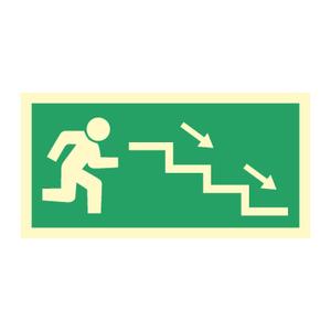 Bilde av Nødutgangsskilt - Høyre trapp ned