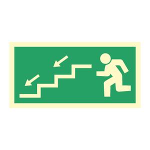 Bilde av Nødutgangsskilt - Venstre trapp ned