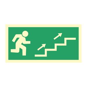 Bilde av Nødutgangsskilt - Høyre trapp opp