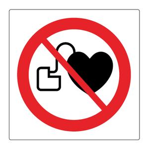 Bilde av Forbudt for personer med pacemaker - Forbudsskilt med symbol