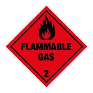 Bilde av Fareseddel klasse 2.1 Brannfarlig gass