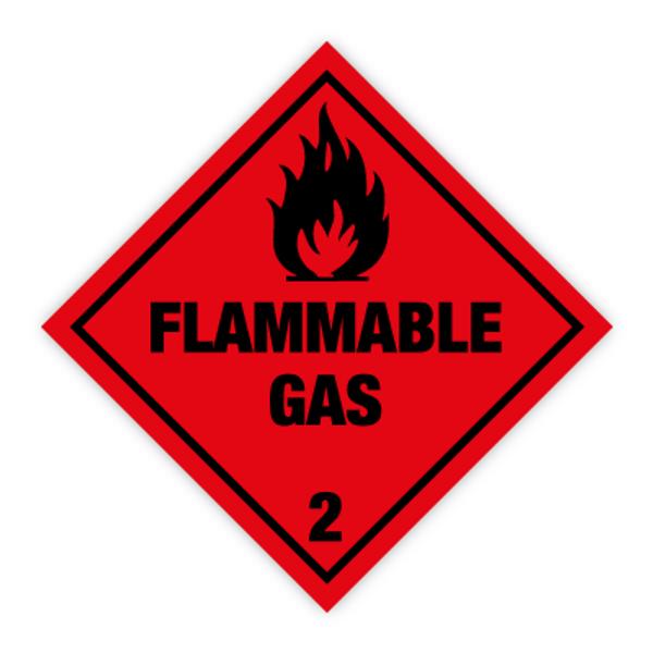 Fareseddel klasse 2.1 Brannfarlig gass