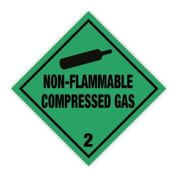Fareseddel klasse 2.2 ikke brannfarlige gasser