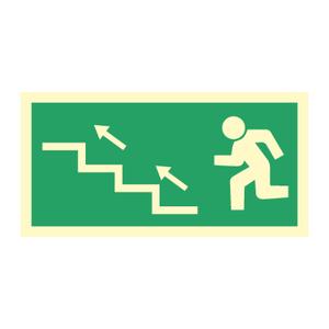 Bilde av Nødutgangsskilt - Venstre trapp opp