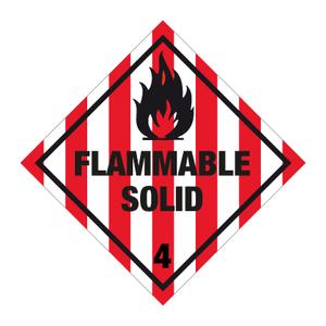 Bilde av Fareseddel klasse 4.1 Brannfarlige faste stoff