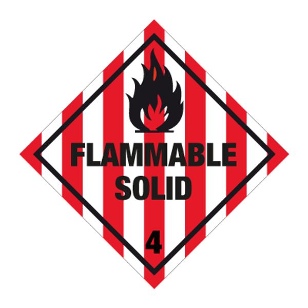 Fareseddel klasse 4.1 Brannfarlige faste stoff