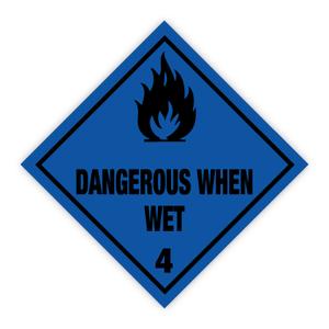 Bilde av Fareseddel klasse 4.3 brannfarlige gasser