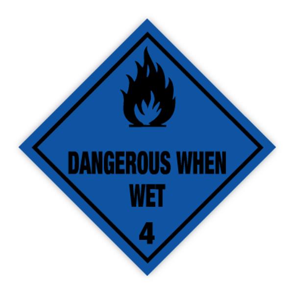 Fareseddel klasse 4.3 brannfarlige gasser