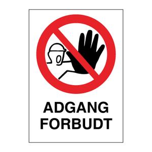 Bilde av Adgang Forbudt - Forbudsskilt med symbol og tekst