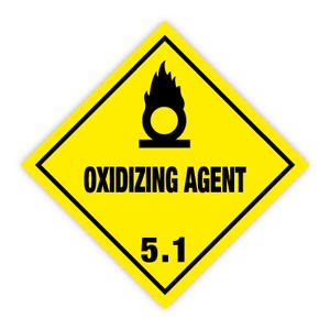 Bilde av Fareseddel klasse 5.1 oksiderende stoffer