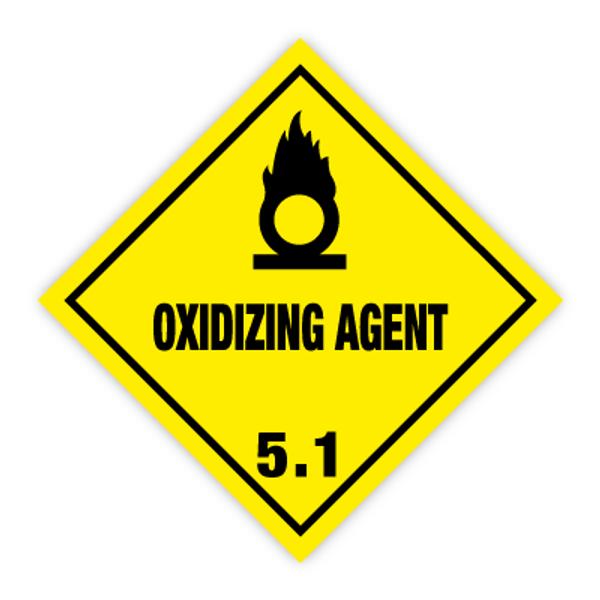 Fareseddel klasse 5.1 oksiderende stoffer