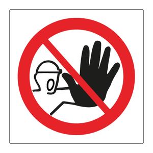 Bilde av Adgang forbudt skilt - Forbudsskilt med symbol