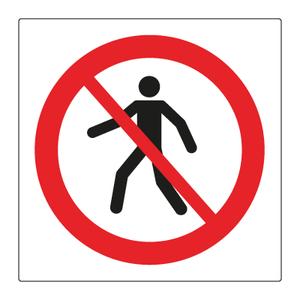 Bilde av Forbudt for gående - Forbudsskilt med symbol