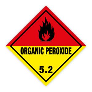 Bilde av Fareseddel klasse 5.2 Organisk peroksid brannfare