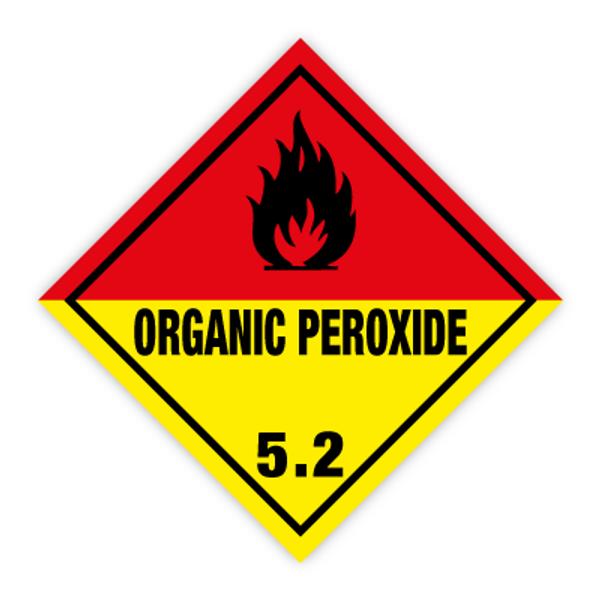 Fareseddel klasse 5.2 Organisk peroksid brannfare