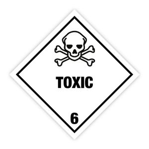 Bilde av Fareseddel klasse 6.1 Giftig stoff