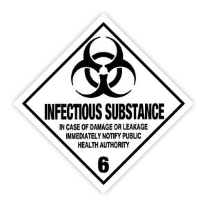 Bilde av Fareseddel klasse 6.2 Infeksjonsfremmende stoff