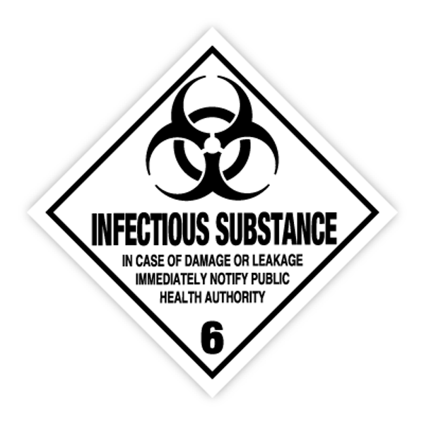 Fareseddel klasse 6.2 Infeksjonsfremmende stoff