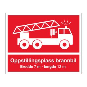 Bilde av Skilt for oppstillingsplass for brannbil - Oslo