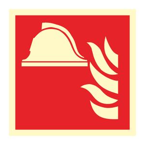 Bilde av Brannutstyr - brannskilt med symbol