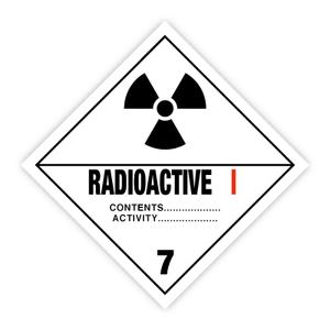 Bilde av Fareseddel klasse 7A Radioaktivt stoff